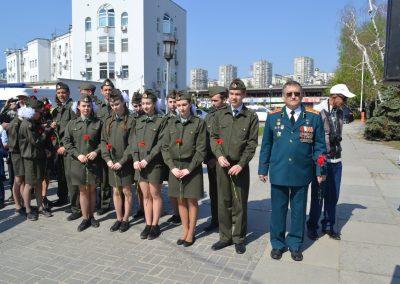 Акция памяти жертв чернобыльской катастрофы состоялась 26 апреля у памятника «Защитившим от атома»