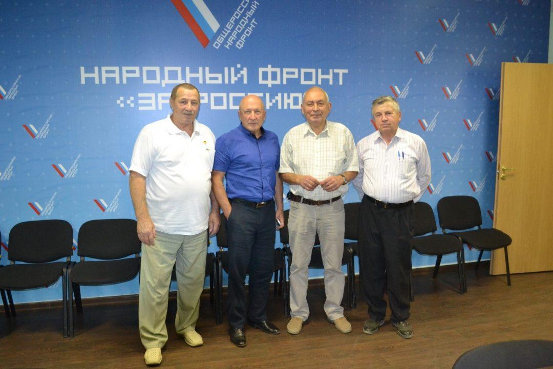 Фото Слева-направо: А. А. Гадуш, К. Г. Глушенок, А. Г. Морозов, Ю. Г. Кудряшов.