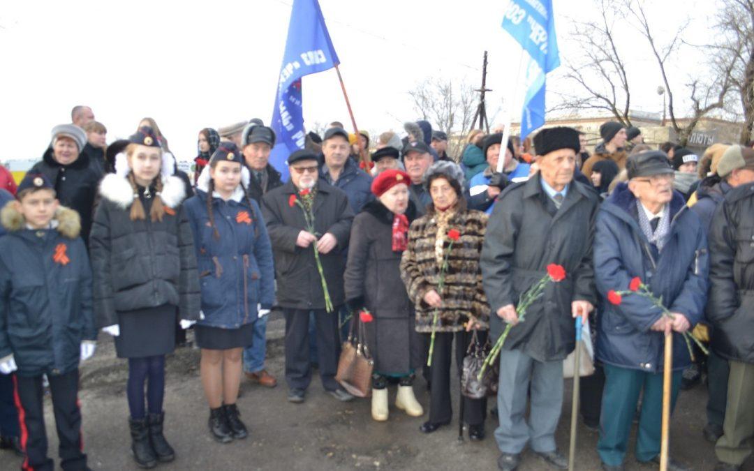 У памятника бойцам 64-й армии генерала Шумилова
