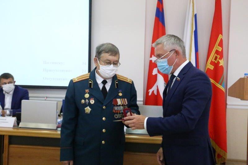 Почетный знак «За верность Отечеству» вручен активисту организации «Союз «Чернобыль» Владимиру Любченко